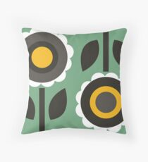 Evergreen Aster Throw Pillow