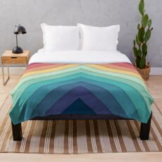 Retro Chevrons 002 Throw Blanket