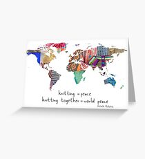 Knitting is peace Greeting Card