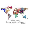 Knitting is peace by Michelle Ricketts