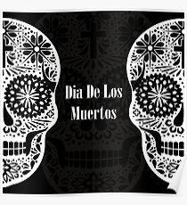 Openwork Santa Muerte. Day of the Dead Poster