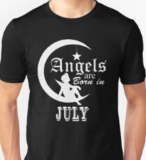 Angels Are Born In July T-Shirt