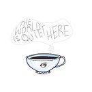 The World is Quiet Here mug design by Meg Tuten
