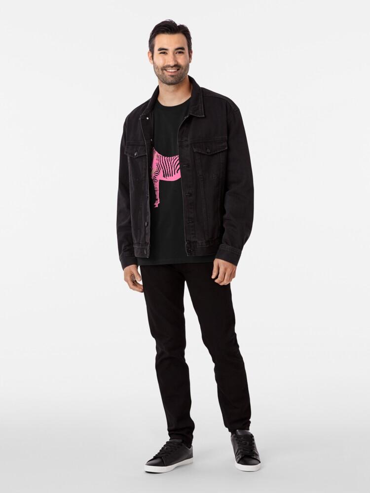 T-shirt premium ''Le zèbre rose': autre vue