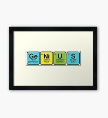 GeNiUS - know all elements Framed Print