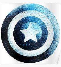 Captan America shield avenger Poster