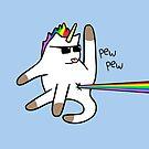 Unicorn Cat Rainbow Butt Laser by jezkemp