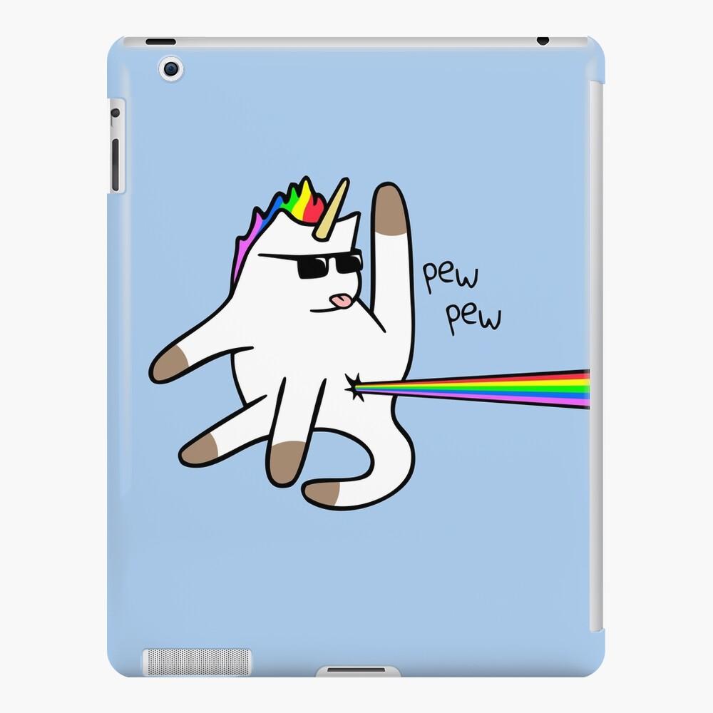 Unicorn Cat Rainbow Butt Laser Funda y vinilo para iPad