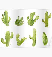 Cactus Watercolor Fashion Poster