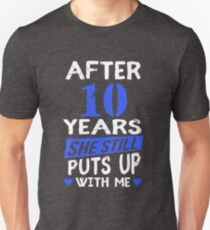10th Anniversary Funny Men Matching Joke Gag Gift T-Shirt
