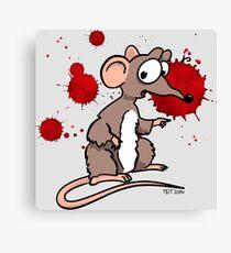 Smash Mouse Blood Spatters Canvas Print