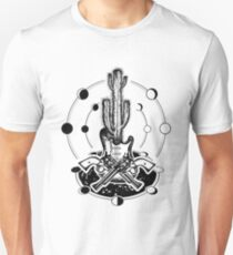 Guitar, crossed revolvers, cactus T-Shirt