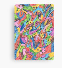 2401 - Buntes Muster im geordneten Chaos Canvas Print