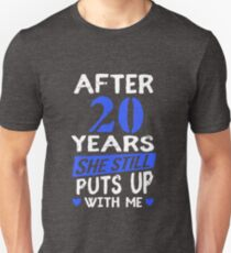 20th Anniversary Funny Men Matching Joke Gag Gift T-Shirt
