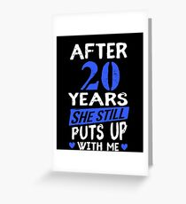 20th Anniversary Funny Men Matching Joke Gag Gift Greeting Card