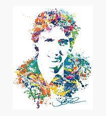 Justin Trudeau Paint Splatter Art Photographic Print