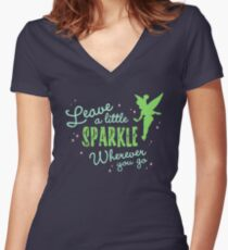 Leave a Little Sparkle Wherever You Go Women's Fitted V-Neck T-Shirt