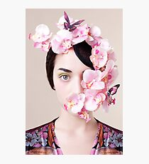 Orchid Mask Photographic Print