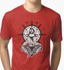 Anchor, steering wheel, butterfly Tri-blend T-Shirt