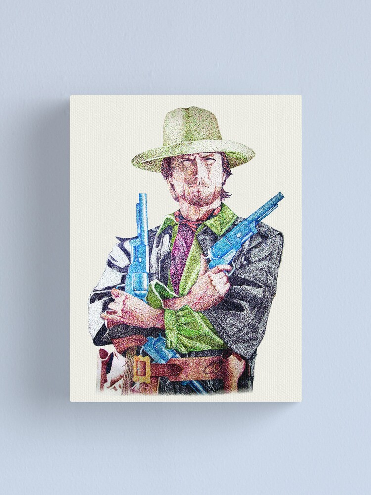 Alternate view of Clint Eastwood Canvas Print