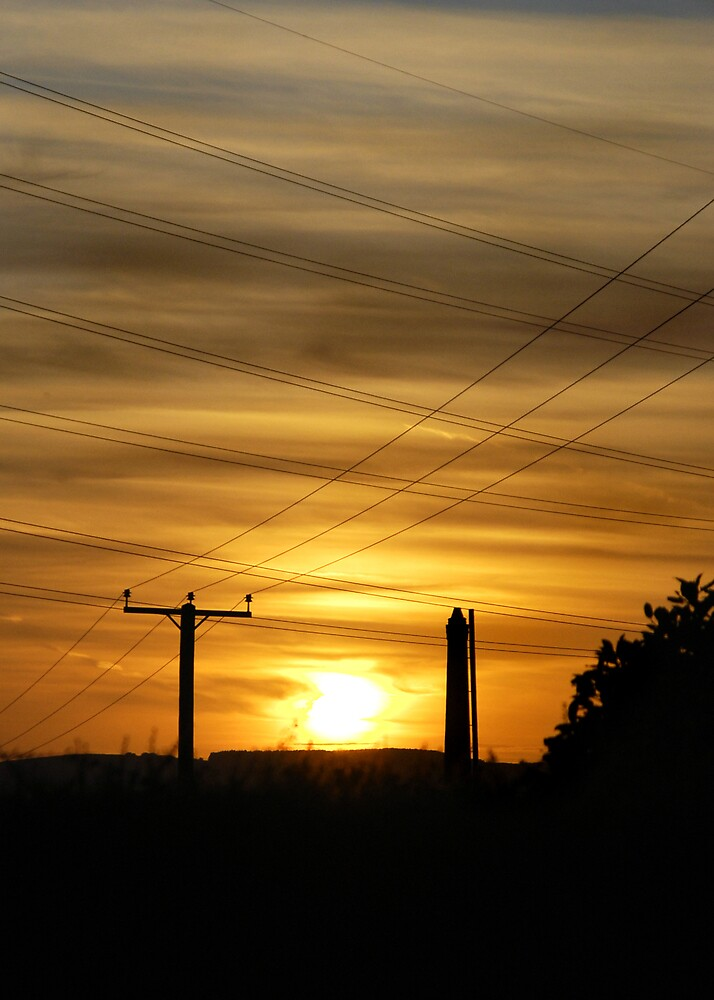 Sunset over Burnley by Jay Payne