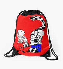 Cross words t-design Drawstring Bag