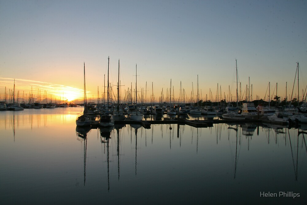 Manly Harbour Queensland by Helen Phillips
