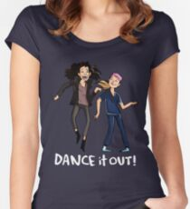Dance it out tshirt and mug!  Women's Fitted Scoop T-Shirt
