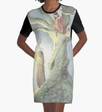 Caught a Wisp Graphic T-Shirt Dress