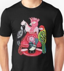 Four Calling Birds (12 Days of Christmas) - Pink T-Shirt