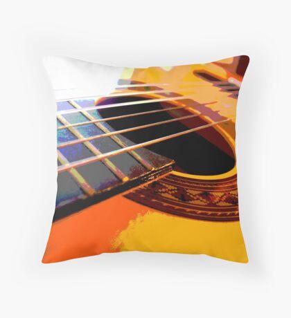 six string Throw Pillow