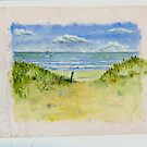 The Beach by Arie van der Wijst