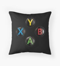 Xbox One Premium Buttons Throw Pillow