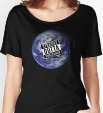 Straight Outta Photoshop Earth Women's Relaxed Fit T-Shirt