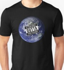 Straight Outta Photoshop Earth Unisex T-Shirt