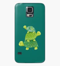 Cute Turtle Stack in Teal, Lime Green and Turquoise Case/Skin for Samsung Galaxy