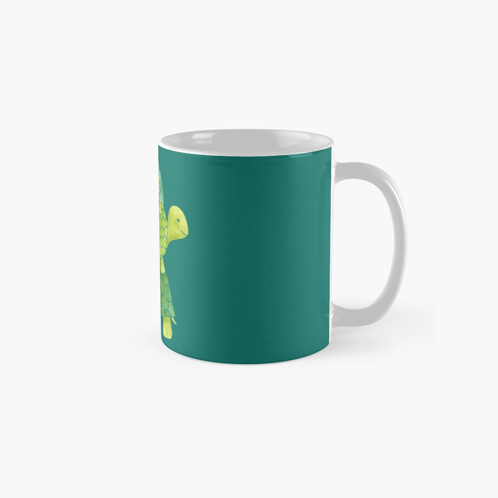 Cute Turtle Stack in Teal, Lime Green and Turquoise Mug