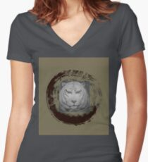 Tiger 5 Women's Fitted V-Neck T-Shirt