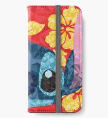 Vinilo o funda para iPhone Puntada geométrica con flores hawaianas
