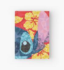 Geometric Stitch with Hawaiian Flowers  Hardcover Journal