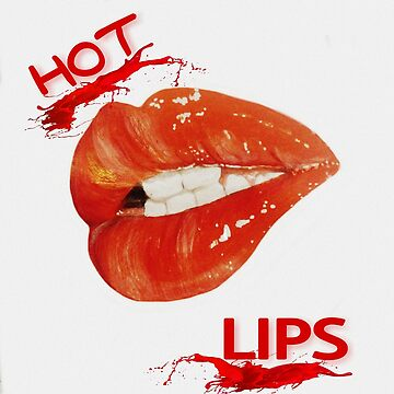 Hot Lips, red lips, lip art - pillows - bedding - apparel by ElizabethArte