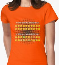 Non Social Worker Day VS. Social Worker's Day Smileys Women's Fitted T-Shirt