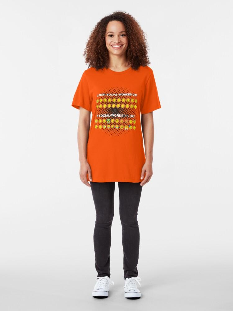 Alternative Ansicht von Non Social Worker Day VS. Social Worker's Day Smileys Slim Fit T-Shirt