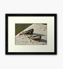 Eastern Europe, Hungary, Budapest, Shoes on the Danube Promenade by Gyula Pauer and Can Togay is a Hungarian Jewish WWII Memorial Framed Print