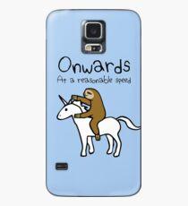Weiter! Mit einer angemessenen Geschwindigkeit (Faultier Einhorn) Hülle & Klebefolie für Samsung Galaxy