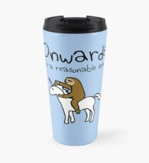 Onwards! At A Reasonable Speed (Sloth Riding Unicorn) Travel Mug