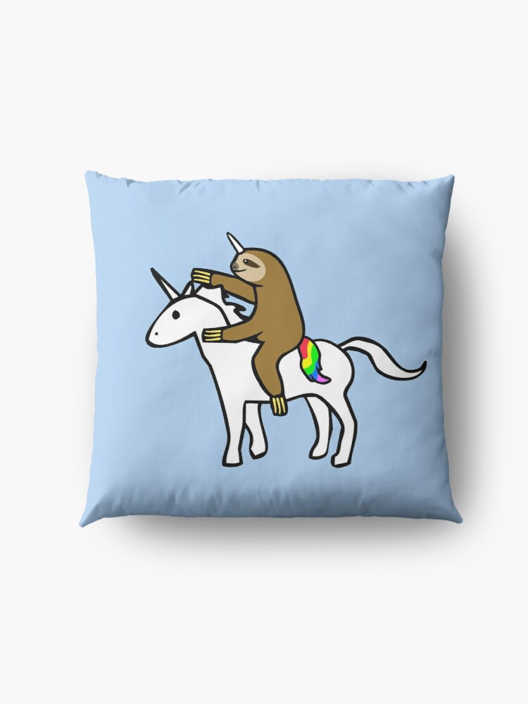 Alternate view of Slothicorn Riding Unicorn Floor Pillow