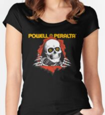 Powell Peralta Yellow Eyes Women's Fitted Scoop T-Shirt