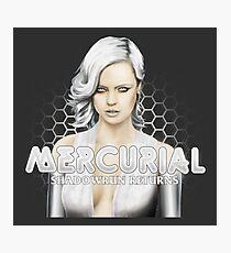 Mercurial #4 - White bg circular Photographic Print