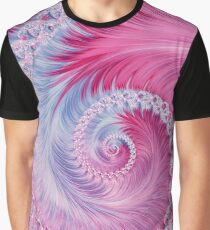 Crystal Spiral Abstract Graphic T-Shirt
